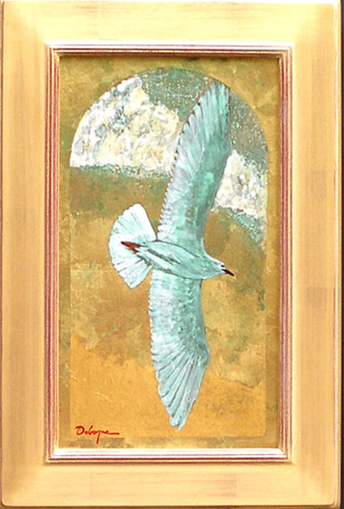 Painting of bird in flight