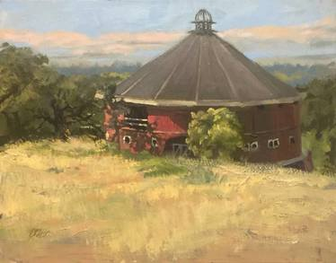 Landscape of Fountain Grove red barn